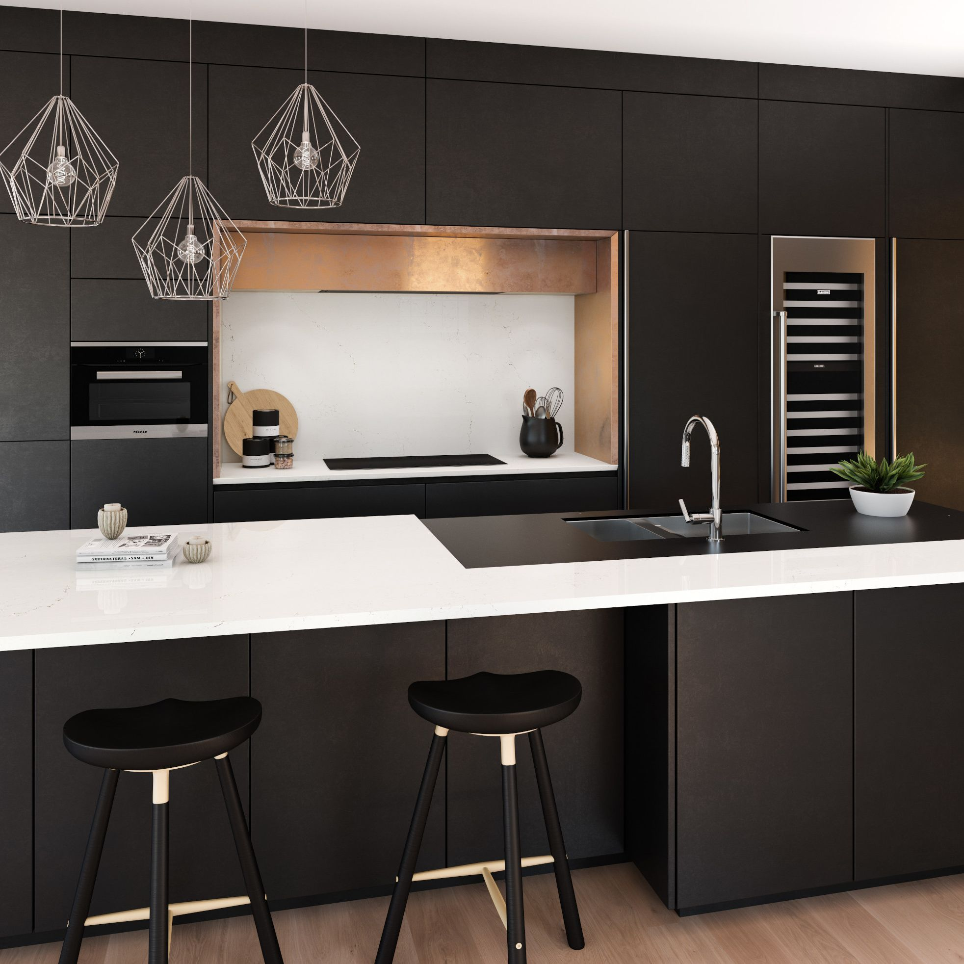 A picture containing wall, indoor, ceiling, kitchen appliance  Description automatically generated
