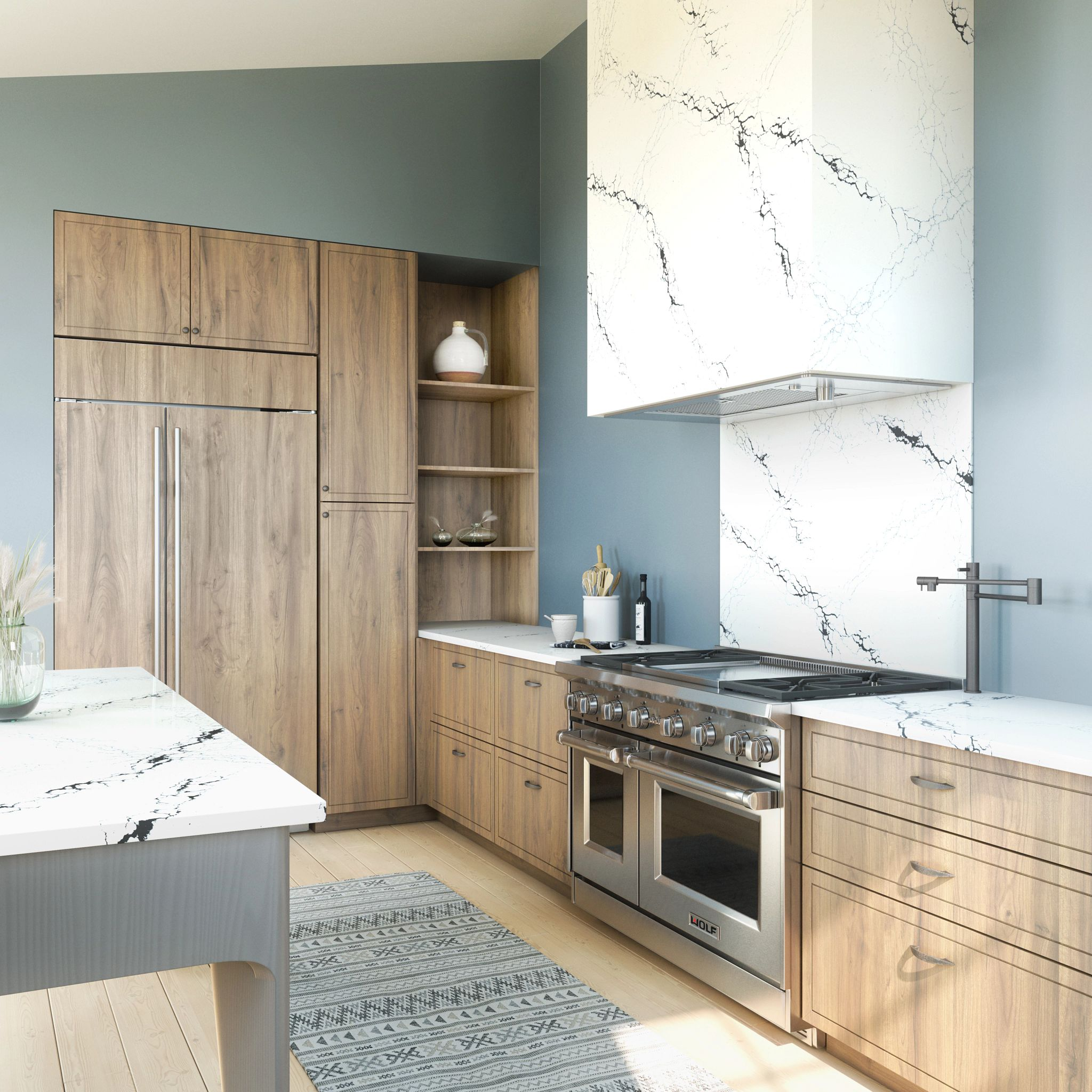 A kitchen with wooden cabinets  Description automatically generated with medium confidence