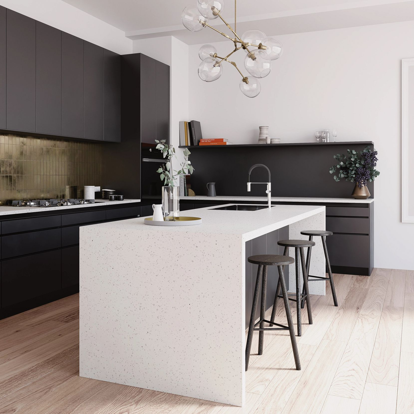 A picture containing floor, indoor, wall, kitchen  Description automatically generated