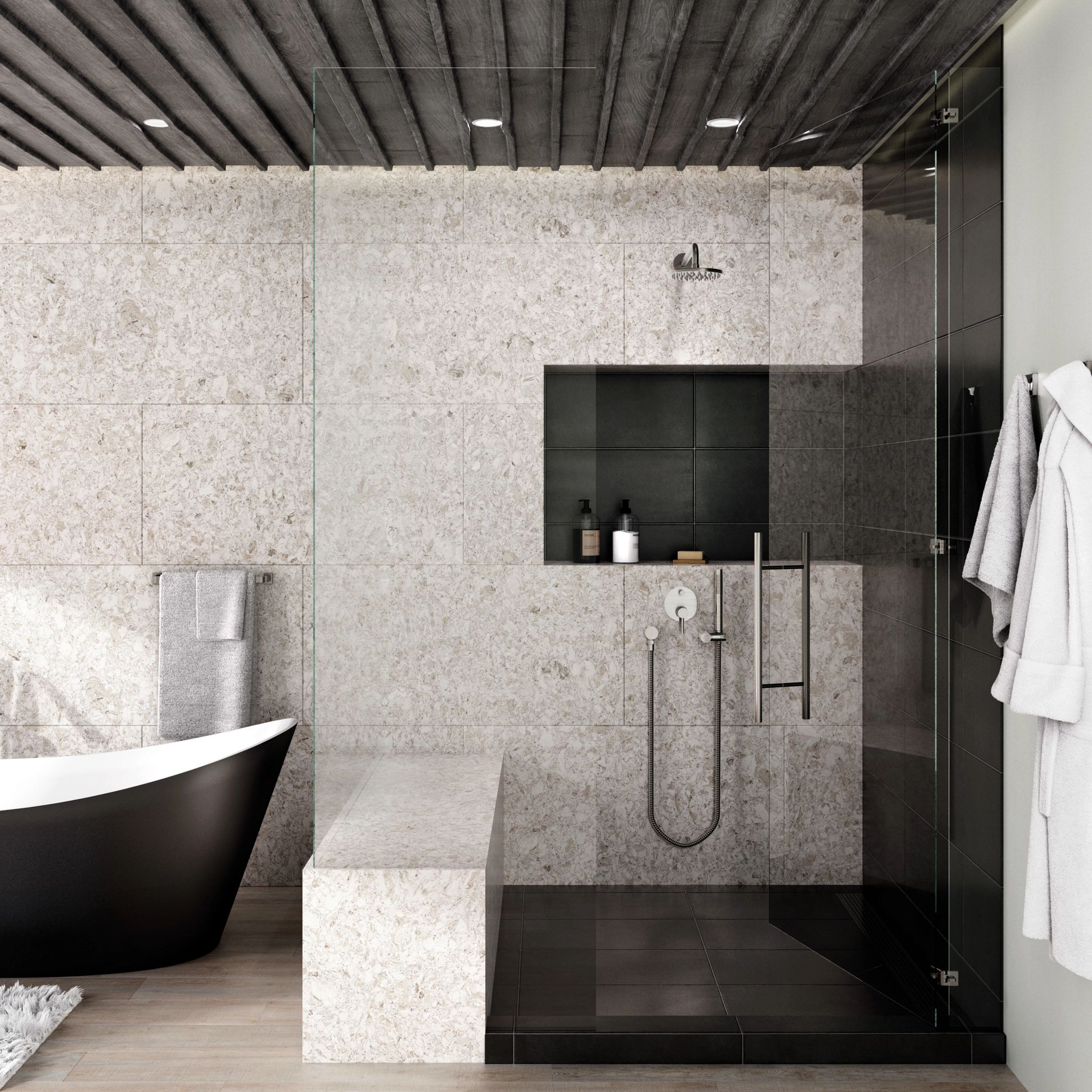 A bathroom with a bathtub and sink  Description automatically generated with low confidence