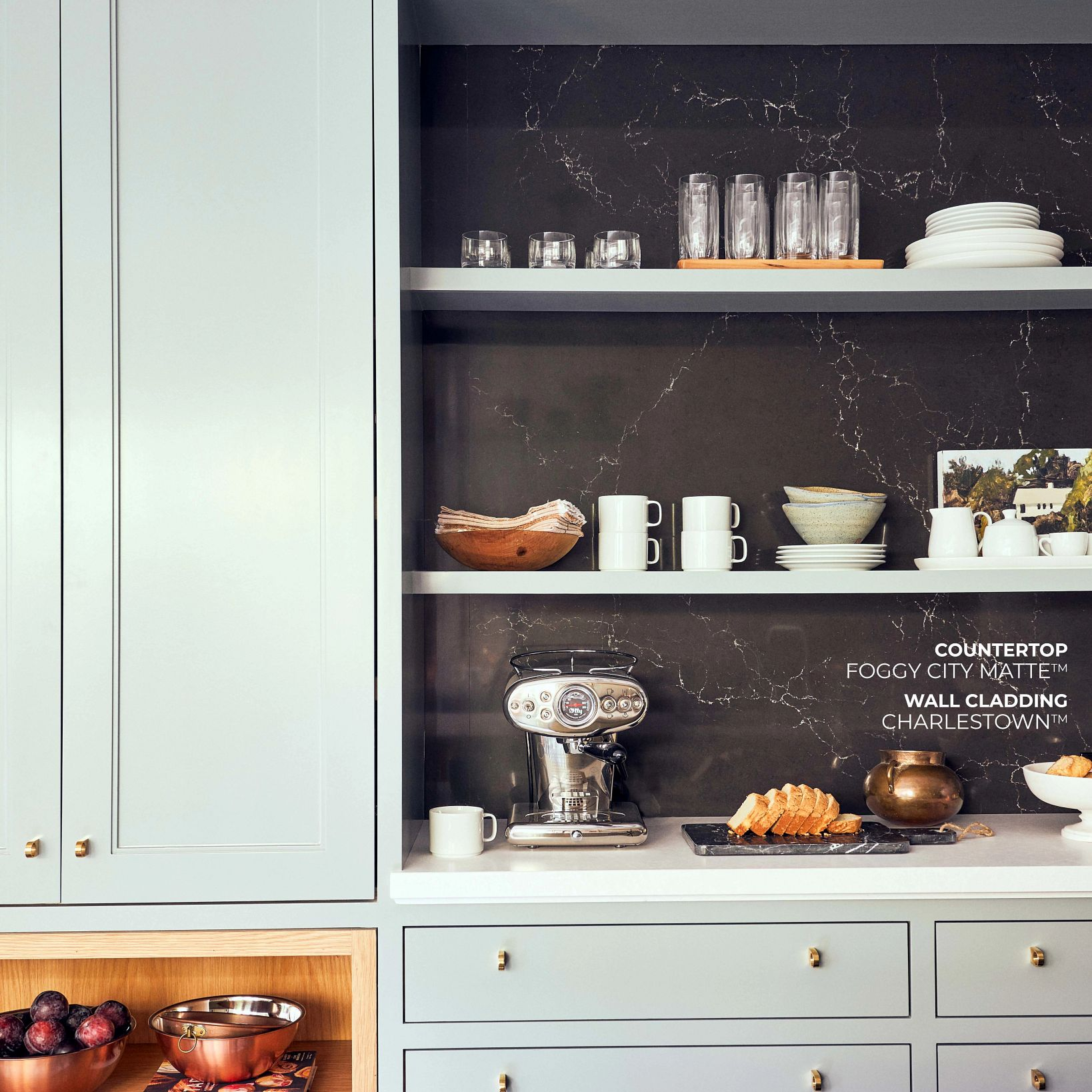A picture containing cabinet, indoor, wall, kitchen  Description automatically generated